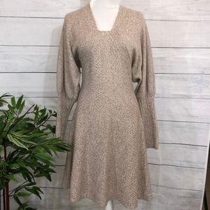 MODA International Tan Sweater Dress - L